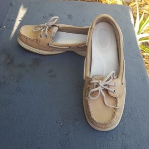 Leather Sperry Top-Siders boat shoes